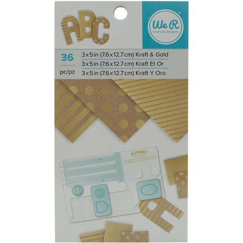 Paper Pad Kraft With Gold Foil