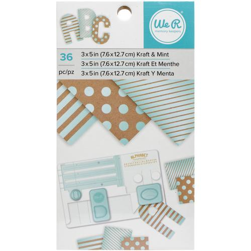 3 X 5 Paper Pad Kraft With Mint Foil