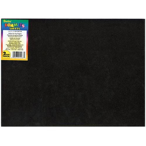 Foam Sheet Black 2mm thick 9 X 12 Inches