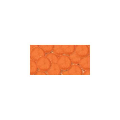 Acrylic Pom Pom Orange 1 Inch