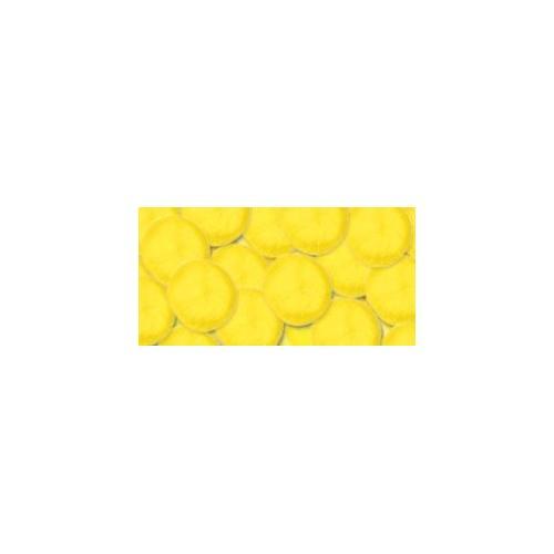 Acrylic Pom Pom Yellow 1 Inch