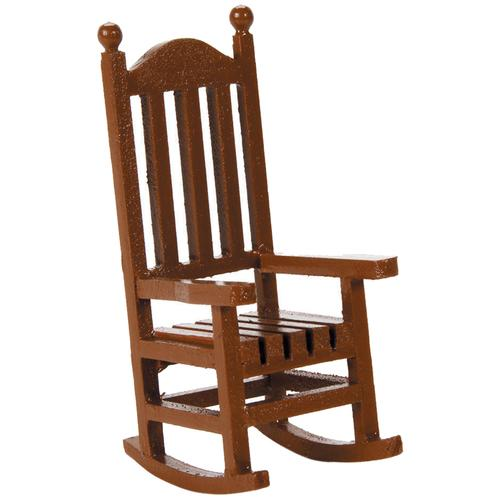 Darice Timeless miniatures Wood Rocking Chair 1.5 x 3.75 Inches