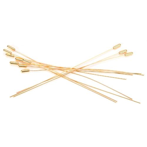 Hat Pins 6 Inches Gold