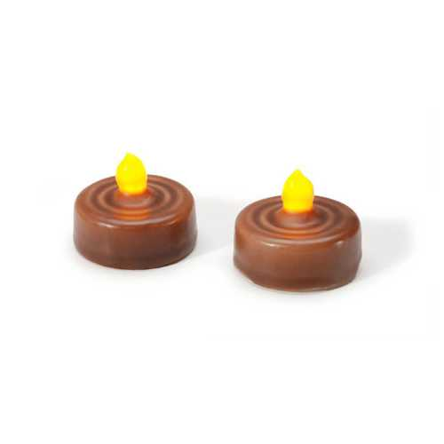 Led Tea Lights - Rustic - Wax Dipped