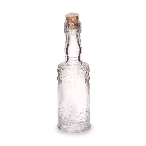 Glass Bottle Round Clear 5 Inches