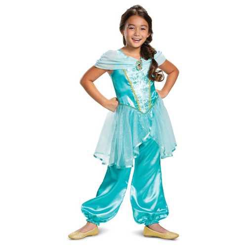 Jasmine Girls Classic Costume Teal(3T-4T)