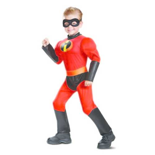 Boy'S Dash Toddler Classic Muscle Child Costume Red Medium (3T-4T)