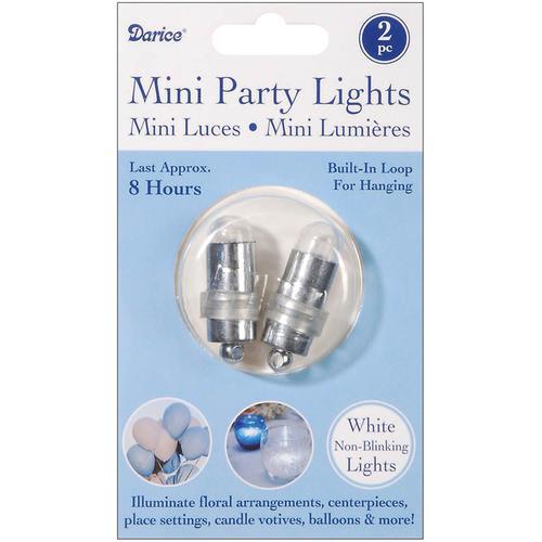 Mini Party Lights Non Blinking White