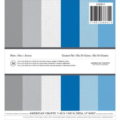 Christmas 6 x 6 Cardstock Paper Pad Christmas Winter