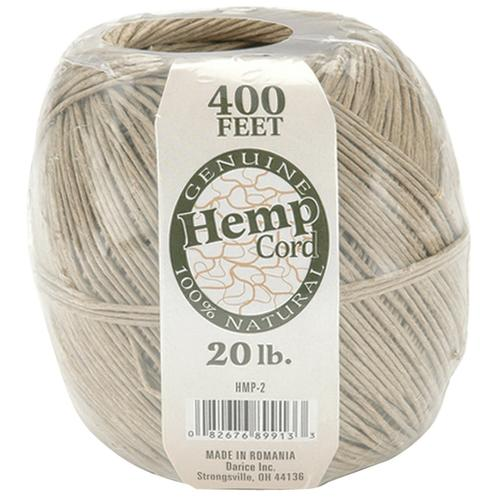 Darice Hemp Cord Brown 400 Feet Natural