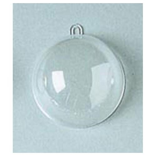 Plastic Ball Ornament 80mm Clear