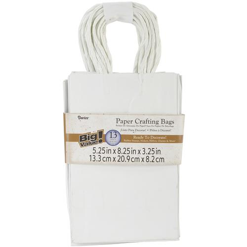 Paper Bags 5.25 X8.375 X3.25 Inches White
