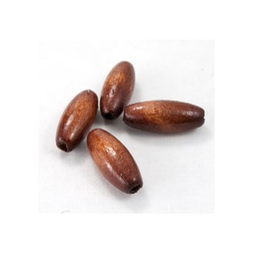 Package Wood Beads 13X25Mm Oval