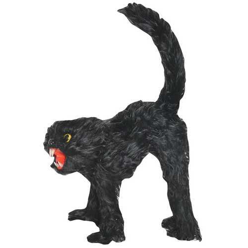 Fur Black Cat 11 Inches