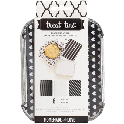 Homemade With Love Food Craft Tins Small Black And White