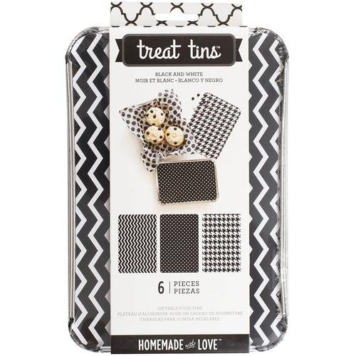 Homemade With Love Food Craft Tins Large Black And White