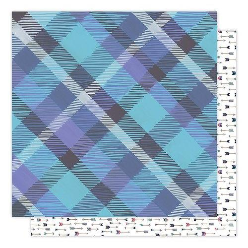 1 Canoe 2 Hazelwood Collection 12 X 12 Double Sided Paper Woodland Plaid
