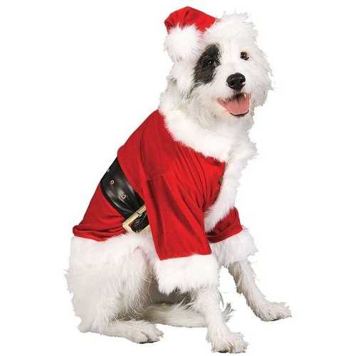 Christmas Pet Costume Santa Claus Small