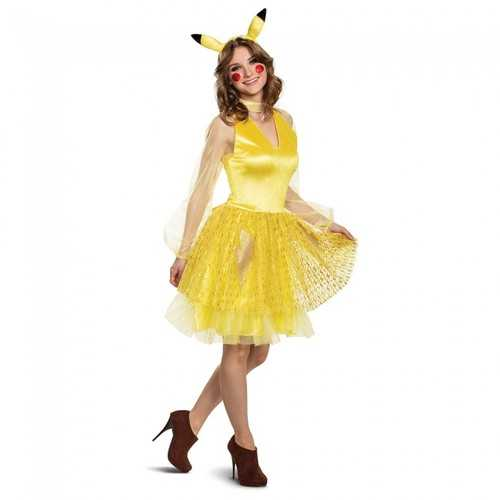 Women'S Pikachu Female Adult Deluxe Costume Yellow Large (12-14)