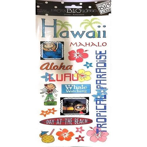 Me And My Big Ideas Stickers Colorful Hawaii Packaged