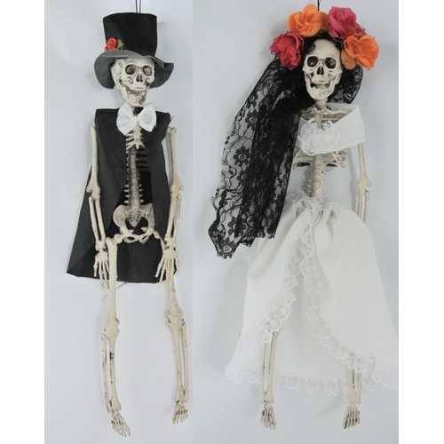 Dressed Day Of Dead Skeleton A/2 16 Inches