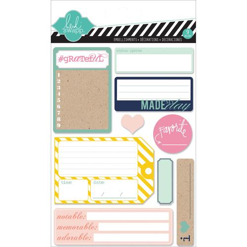 Hello Today Adhesive Back Paper Stacks 9 Journal Spot Designs