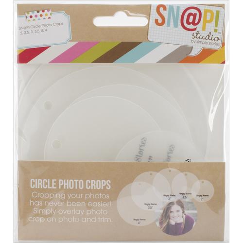 Sn Ap! Photo Crops 5 Pkgcircle Circle