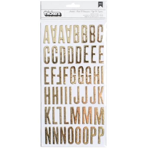 Clearly Posh Collection Thickers Alphabet Gold Foil