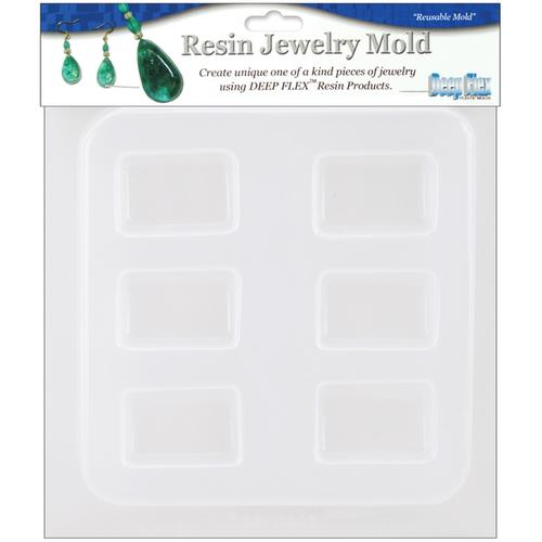 Resin Jewelry Reusable Plastic Rectangle Mold 6.5 X 7 Inches