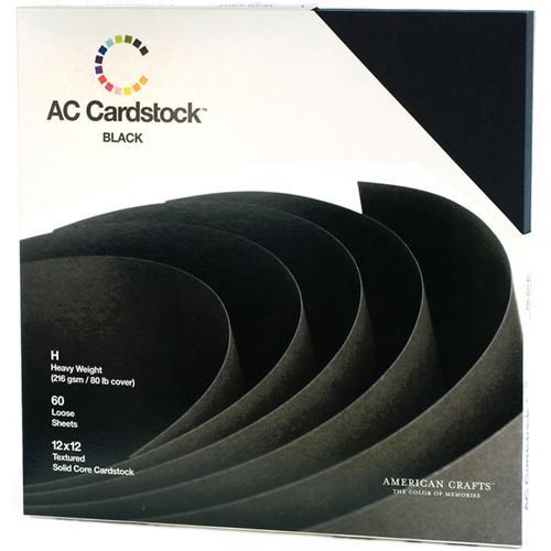 12 X 12 Cardstock Pack 60 Sheets Black