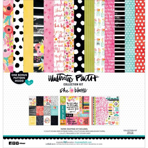 Illustrated Faith She Blooms Collection 12 X 12 Collection Kit