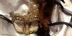 Kbw Women's Antique Look Eye Mask Silver