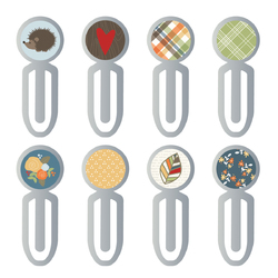 Collection Hello Fall Epoxy Metal Clips