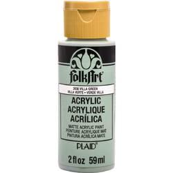Plaid Folkart Acrylic Paint 2Oz-Villa Green