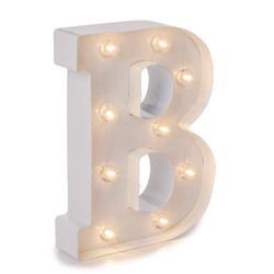 Light Up White Marquee Letters - Letter B 9.875 inches