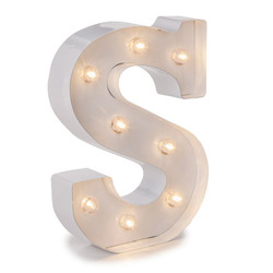 Light Up White Marquee Letters 9.875 Inches Small
