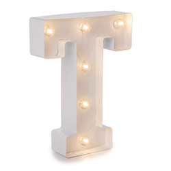 Light Up White Marquee Letters - Letter T  9.875 inches
