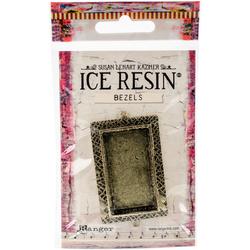 Ranger Ice Resin Milan Bezel Large Rectangle Antique  Bronze
