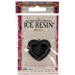 Ranger Ice Resin Milan Bezel Med Heart Ant Silver