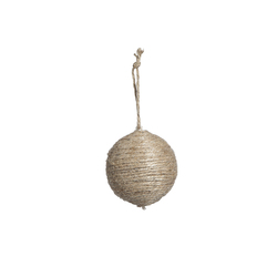 Vintage Jute String Ball Ornament 3.25 Inches