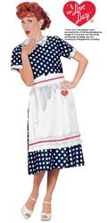 Fun World Women's Licensed I Love Lucy Polka Dot Dress  Blue Large (14-16)