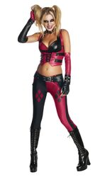 Batman Secret Wishes Top And Pants Adult Harley Quinn Costume Female Large
