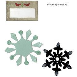 Sizzix Basic Grey Nordic Holiday Collection Bigz And Sizzlits Die Snowflakes And Tag With Birds