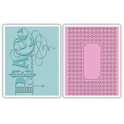 Sizzix Textured Impressions A6 Embossing Folders Peace