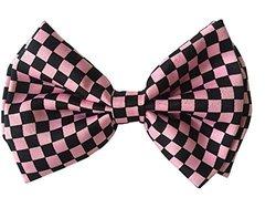 Halloween Wholesalers Bowtie (Black & Pink Check)