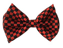 Halloween Wholesalers Bowtie (Black & Red Check)