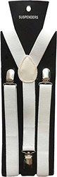 Halloween Wholesalers Suspenders (White Glitter)