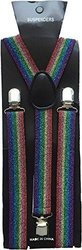 Halloween Wholesalers Suspenders (Rainbow Glitter)