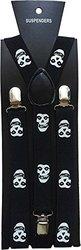 Halloween Wholesalers Suspenders Skulls Print
