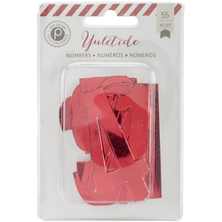 Yuletide Countdown Numbers Red